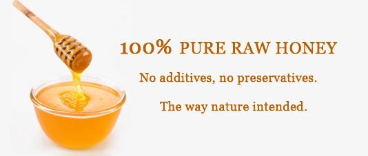 All natural raw honey, without additives or preservatives.